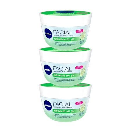 KIT 3 CREMES NIVEA FRESH EM GEL 100g