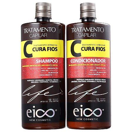 KIT EICO SHAMPOO + CONDICIONADOR CURA FIOS 450ml -