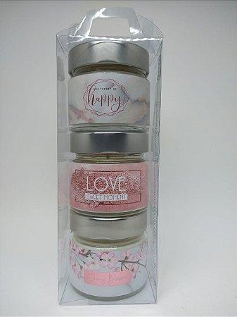 Box com 3 velas aromáticas