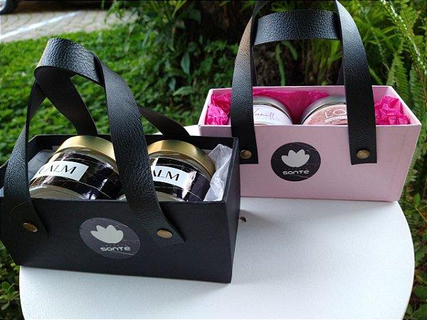 Mini Box de duas Velas Aromáticas