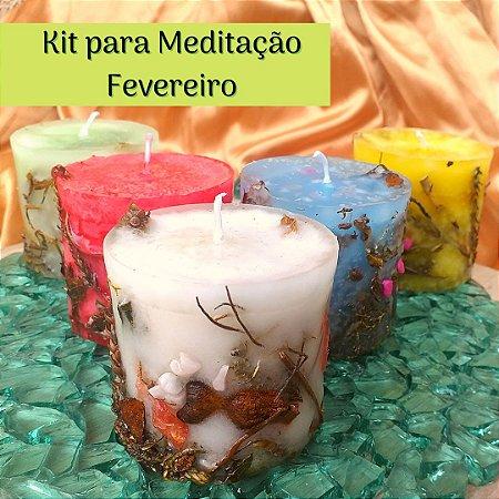 Kit para Meditação em  Fevereiro- Jornada da Lua