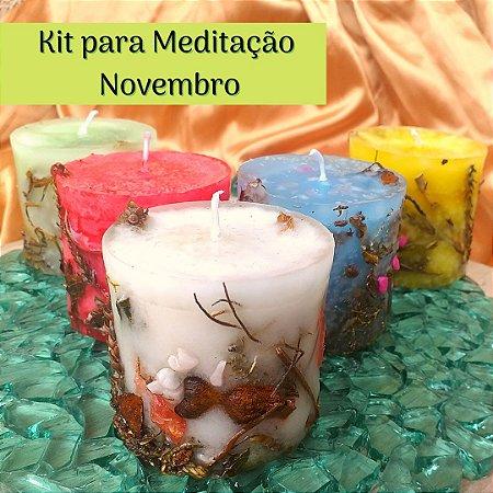 Kit para Meditação  em Novembro - Jornada da Lua