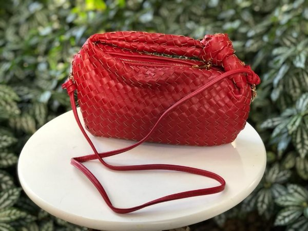 Bolsa Tiracolo Vermelha Tressê