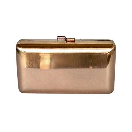 Bolsa Clutch Metal Liso Dourado Fosco