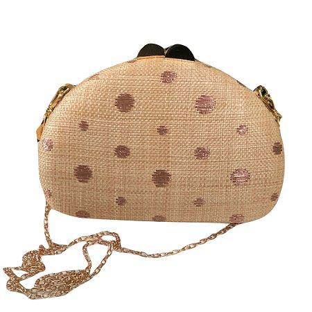Bolsa Clutch em Poá Caramelo