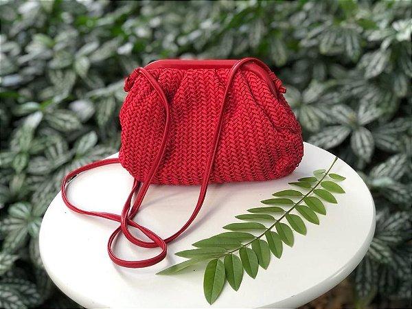 Bolsa Pouch em Tresse Vermelha