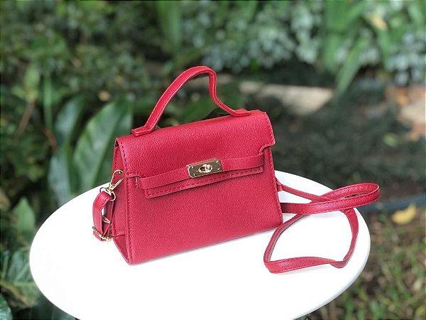 Bolsa Mini Estruturada Vermelha