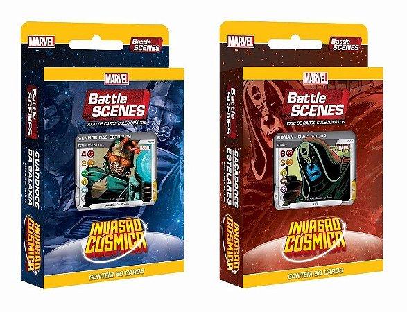 Kit Decks Battle Scenes Invasão Cósmica (2 unidades)