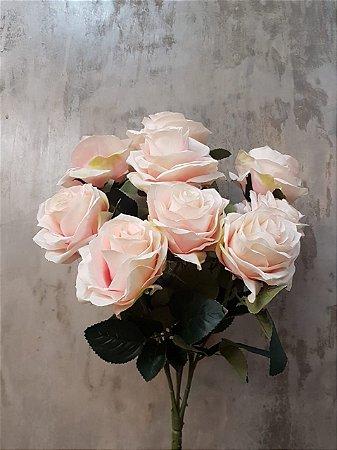 Buquê de rosas (rosa claro) com 10 cabeças