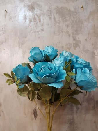 Buquê de rosas (azul) com 10 cabeças