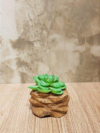 Mini Suculenta - Vaso de Pedra (artificial)