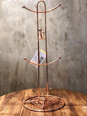 suporte 66909 toalhas ferro crom rose 16x38cm
