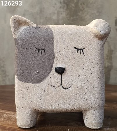 CACHEPOT 44182 CERAM SLEEP DOG 11,3X8X9CM