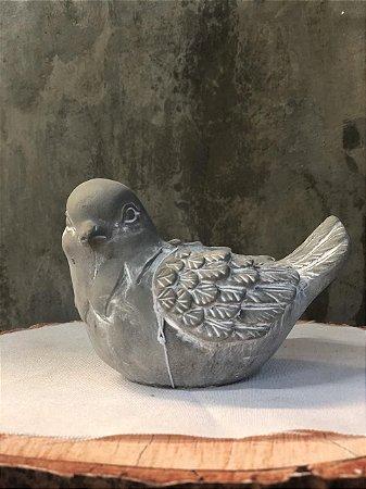VASO 43701 CONC BIRD BREEZE CINZA 10,5X7,5X8CM