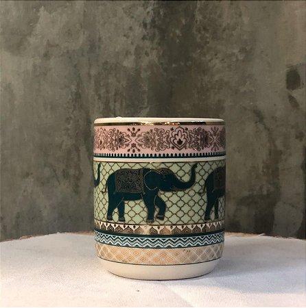 CACHEPO 43698 CERAM INDIAN ELEPHANT ROSA 6X6X7CM