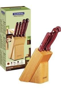 Conjunto de facas 5 peças polywood-Tramontina