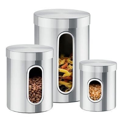 Conjunto de Potes com visor 3 Peças - Brinox
