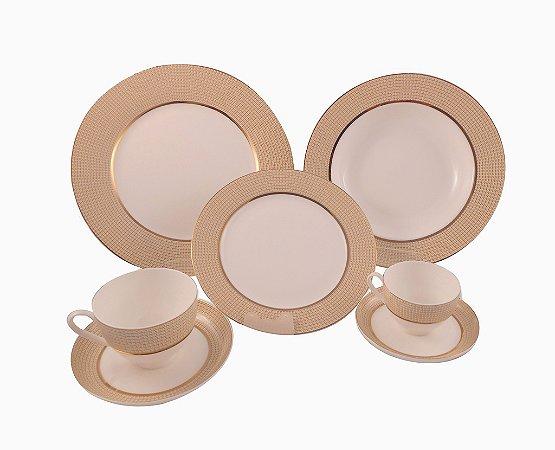Jogo de Jantar em Porcelana Bonechina 42 peças - Home & CO