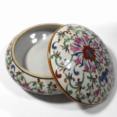 Potiche Cerâmica Estampado 18cm