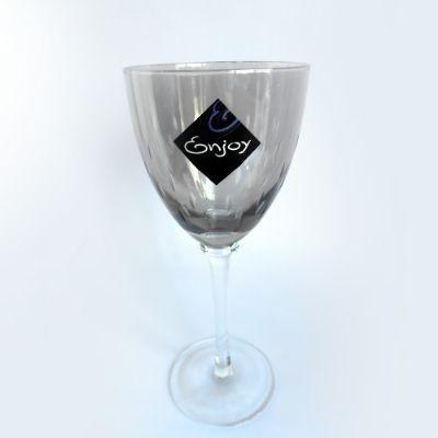 Taça Vinho 270 ML Vidro Fume lustrada 6 PÇS - Enjoy