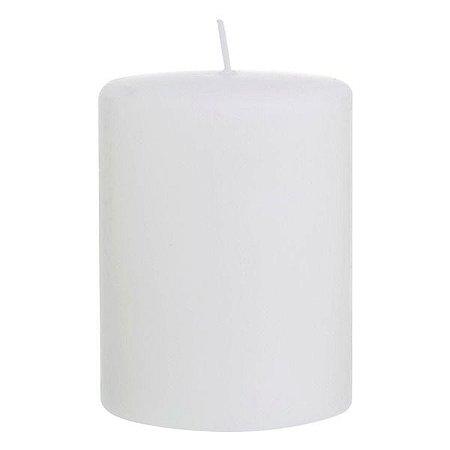 Vela cilíndrica 7x10 cm branco fosco