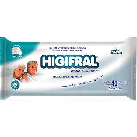 Toalhas Umedecidas para Adulto - HIGIFRAL