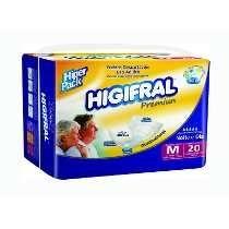 Fraldas Descartáveis Uso Adulto Premiun - HIGIFRAL