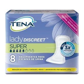 Absorvente Tena Lady Discreet Super 8 unidades