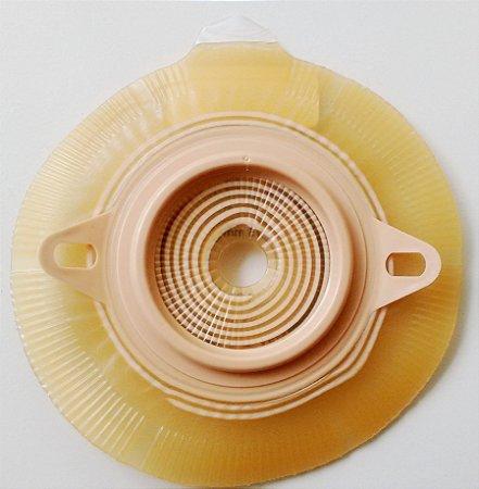 Placa Base Adesiva Espiral Flange 40mm Alterna Sistema 2 Peças para Estomias - Recorte 10-35mm - Coloplast 17701