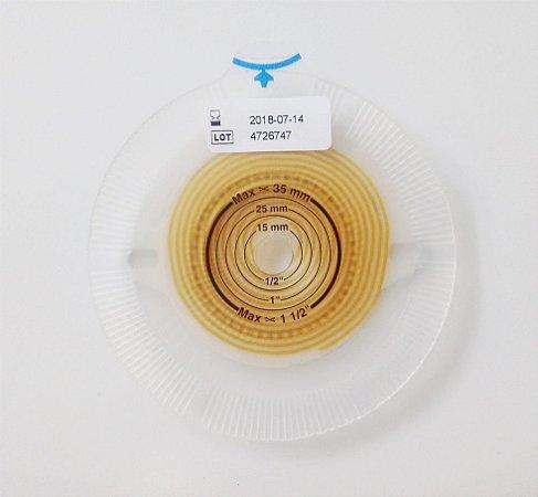 Alterna Sistema de 2 Peças para Estomias - Base Plana TERA 40mm - Recorte 10-35mm - 17716 - Coloplast