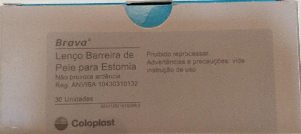 Lenço Barreira de Pele para Estomia Brava caixa com 30 unidades - Coloplast 12021