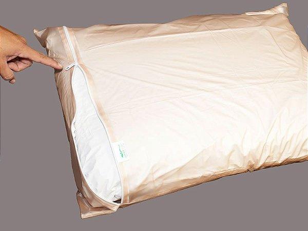 Fronha para Travesseiro com Ziper Siliconizado - Senior Care