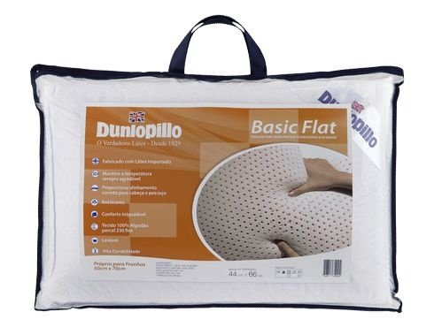 Travesseiro de Látex Adulto Basic Flat - Dunlopillo