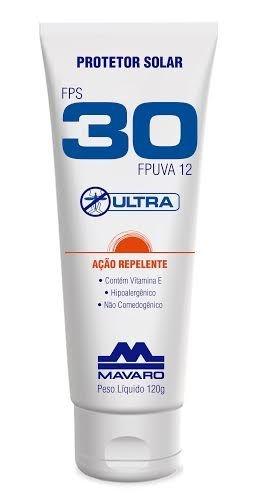Protetor Solar Ultra FPS 30 Ação Repelente - 120g - MAVARO