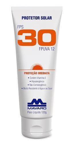 Protetor Solar FPS 30 - 120g - Mavaro