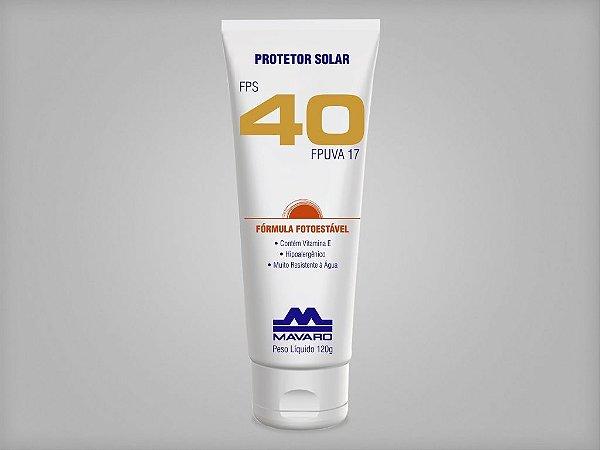 Protetor Solar FPS 40 - 120g - Mavaro