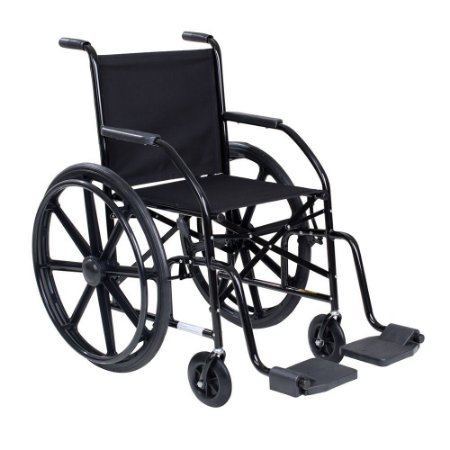 Cadeira de Rodas CDS 101 Preta - Rodas de Nylon