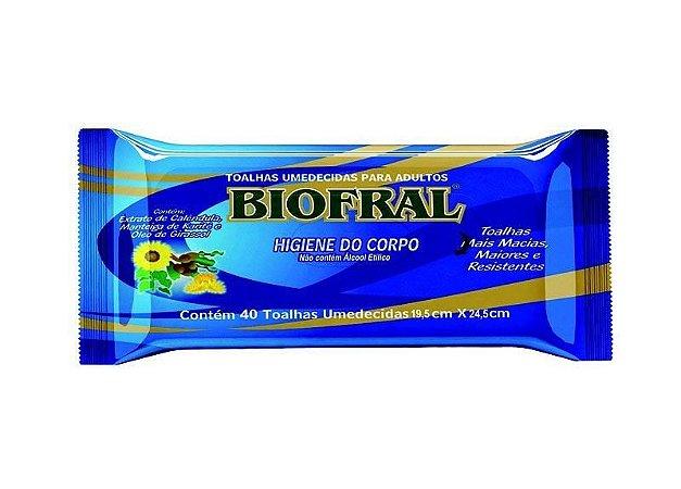 Toalhas umedecidas para adultos (40 unidades) Biofral
