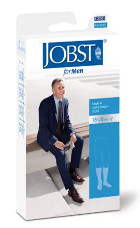 Meia Elástica Masculina Panturrilha Compressão 15-20 mmHg Preta - Jobst for Men