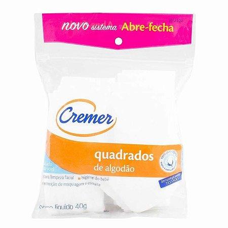 Algodão em Quadrados - Branco - 40 g - Cremer