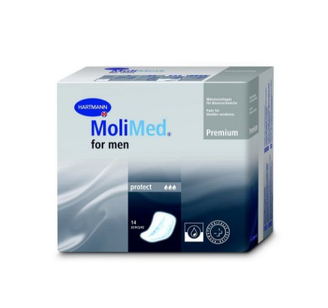 Absorvente Masculino MoliMed for Men Active e Protect - Hartmann (Caixa com 4 Pacotes)