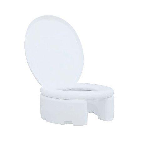 Assento Sanitário Elevado - com arco almofadado e tampa - 18 cm - Astra