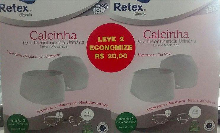 Kit Retex com Duas Calcinhas para Incontinência Urinária