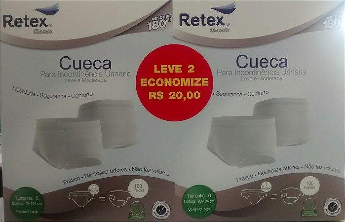 Kit Retex com Duas Cuecas para Incontinência Urinária