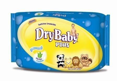 Toalhinhas Umedecidas Dry Baby 50 unidades