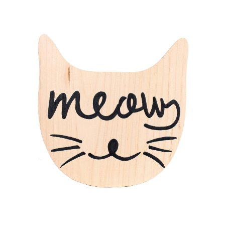 Plaquinha Meow (Mama Loves You + Ateliê Baobá)