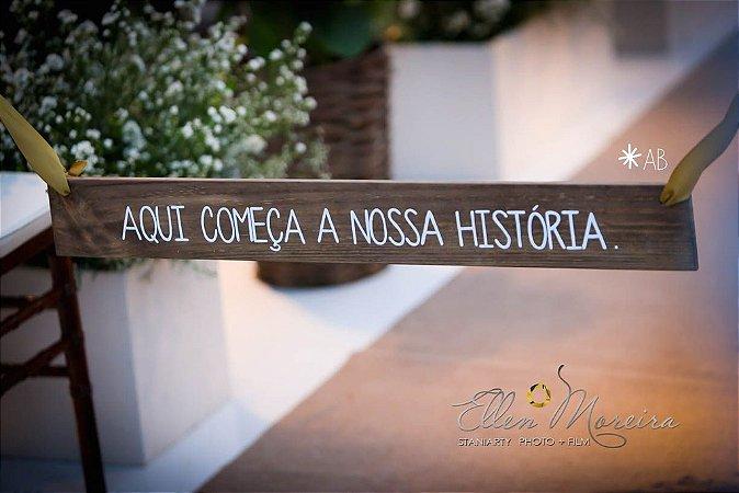 Hang de madeira para entrada da cerimônia de casamento