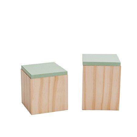 Potinhos em madeira (dupla)