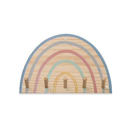 Cabideiro de parede arco-íris
