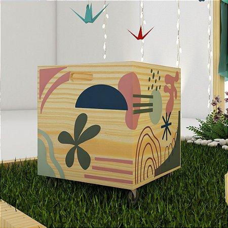 Caixote Imaginath #1 - rosa, marinho e verde
